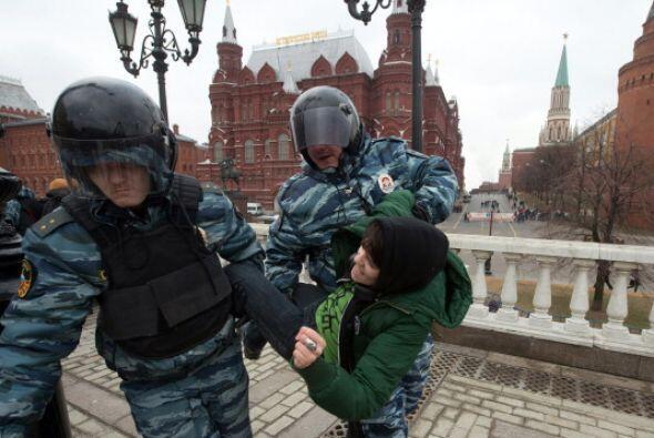 Sin embargo, dentro de Moscú también hubo un contingente de decenas de p...