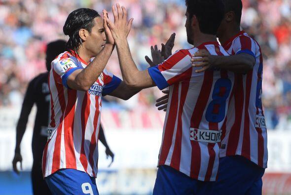 El 'Tigre' también anotó un par de veces en la victoria 'colchonera' de...