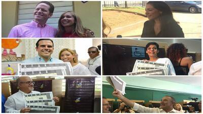 Candidatos y políticos ya ejercieron su voto