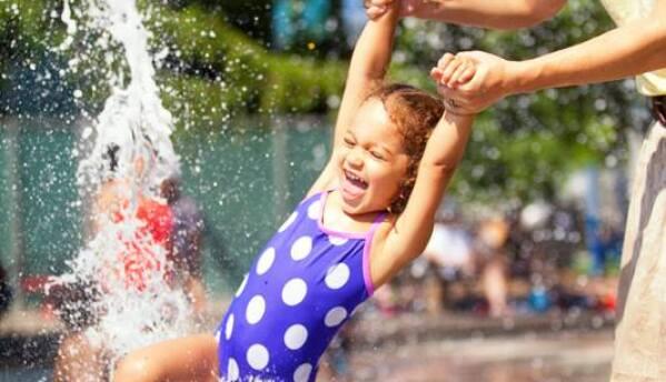 Actividades para los niños en el parque Discovery Green.