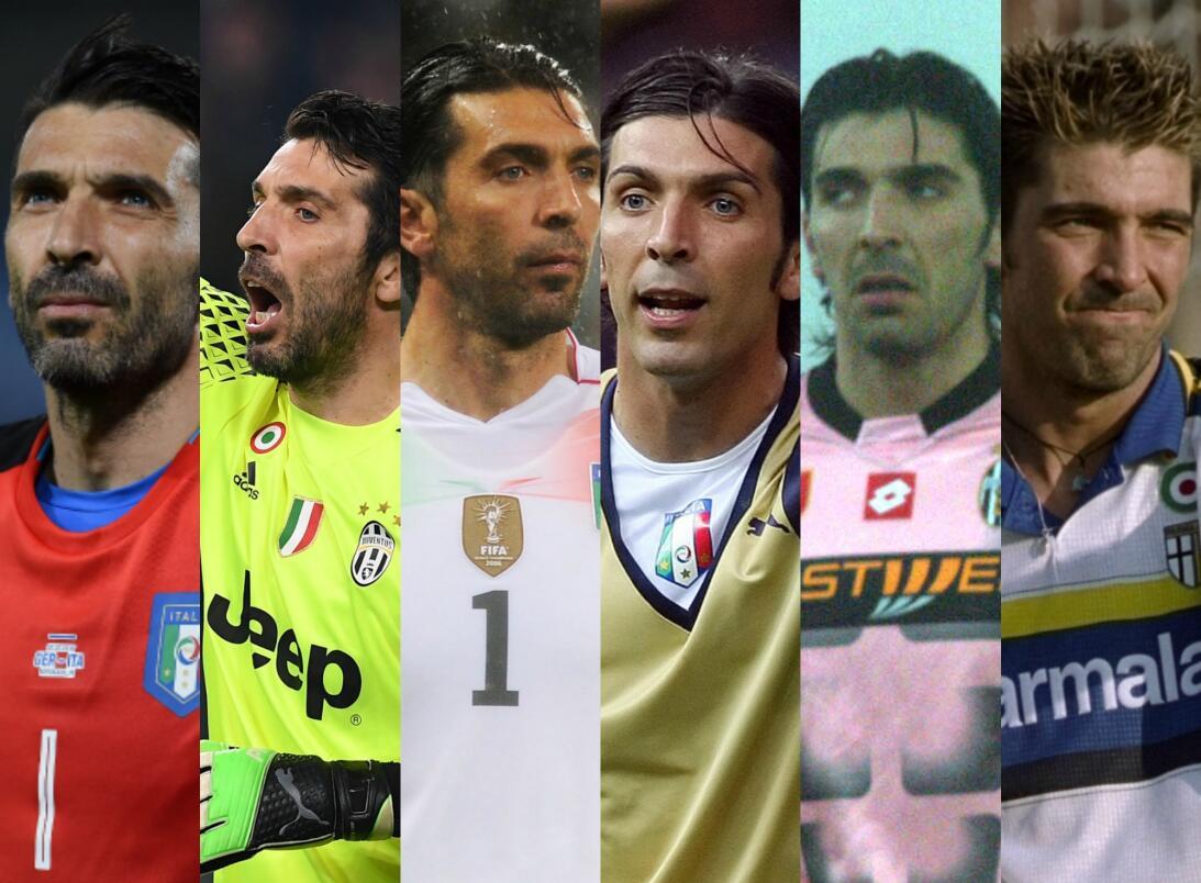 Rostros de Buffon, el portero de los 1.000 partidos como profesional Buf...