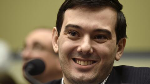 Martin Shkreli sonriendo en el Capitolio, en Washington, durante una aud...