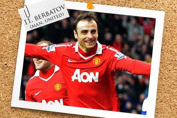 Pero eso no es todo, pues el búlgaro Dimitar Berbatov también marcó tres...