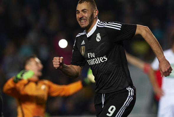 El jugador de Real Madrid, Karim Benzema, se encuentra en el lugar númer...