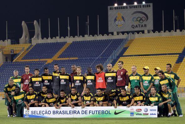 Imagen de la selección de Brasil horas previas al partido ante Ar...