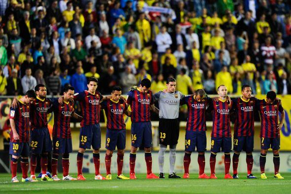 Los 'blaugranas' guardaron un minuto de silencio en recuerdo a Tito, qui...