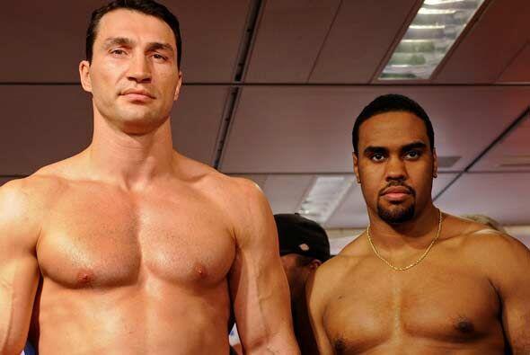 El ucranianio Vladimir Klitschko y el oriundo de Pittsburgh, Eddie Chamb...