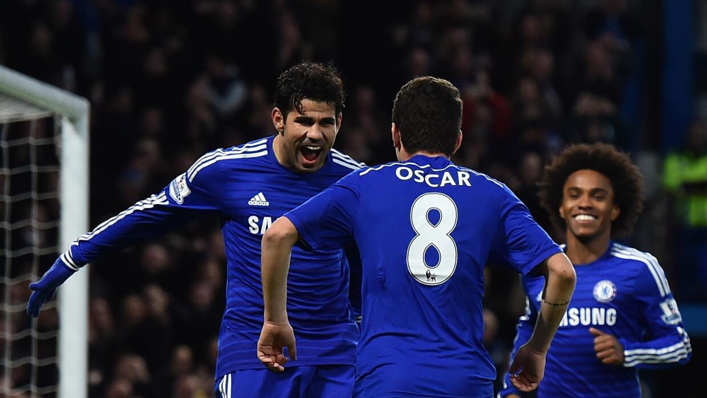 Diego Costa y Oscar se enfrentaron en la práctica del Chelsea