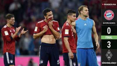 ¿Y el campeón? Bayern sufre segunda derrota consecutiva, ahora ante el Mönchengladbach
