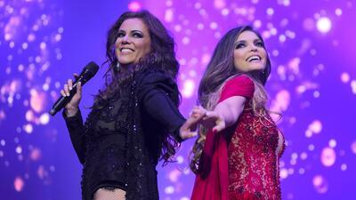 Las cantantes ofrecieron un espectáculo conjunto donde interpreta...