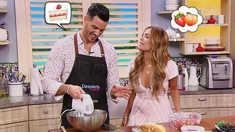 Karla se saboreó tanto este bizcocho que el Chef Jesús le hizo una torta...