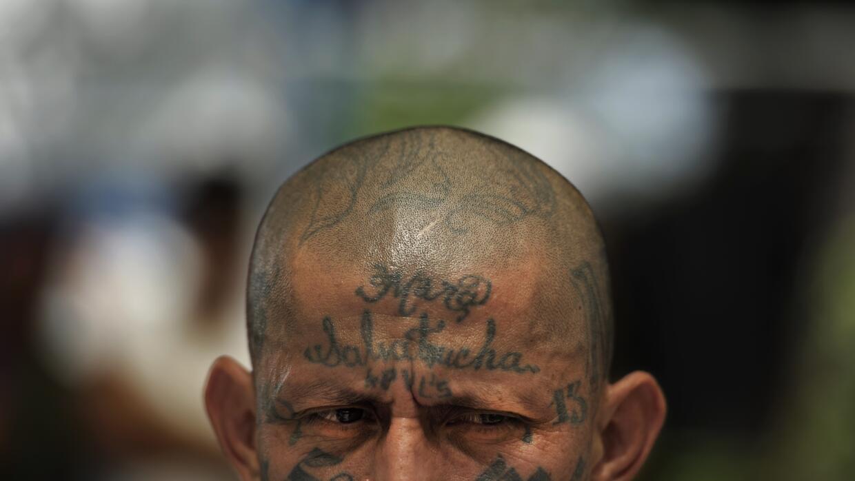 Uno de los líderes de la MS-13, Carlos Tiberio Valladares, alias Sniper,...