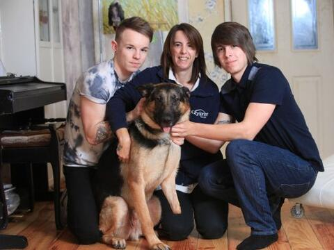 La vida de este perro cambió cuando encontró una verdadera...