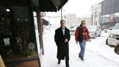 Martin O'Malley este lunes en Iowa Falls, Iowa