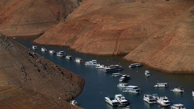 Lago Oroville en su 32% de capacidad.