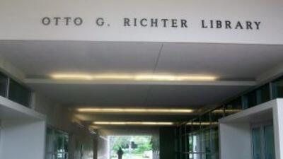 Biblioteca Otto Ritche, en la Universidad de Miami (UM)