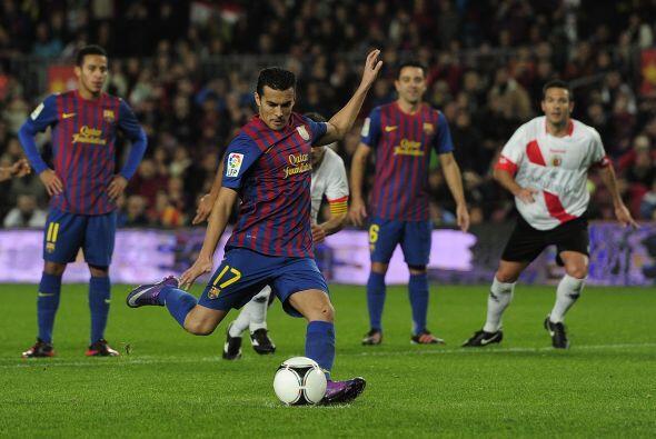 El primer gol llegó tras un penalti marcado y el disparo lo hizo Pedro.