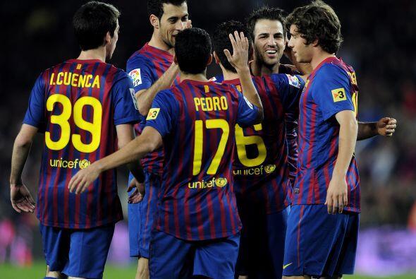 El Camp Nou vivía una fiesta total gracias a sus jugadores.