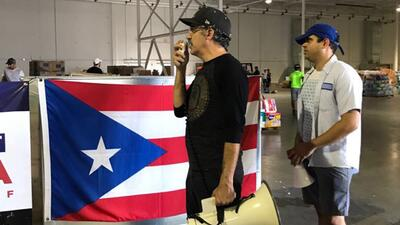 Volunteers collect aid for hurricane-ravaged Puerto Rico