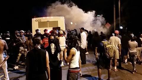 Los manifestantes bloquearon una parte de la carretera noreste de Charlo...