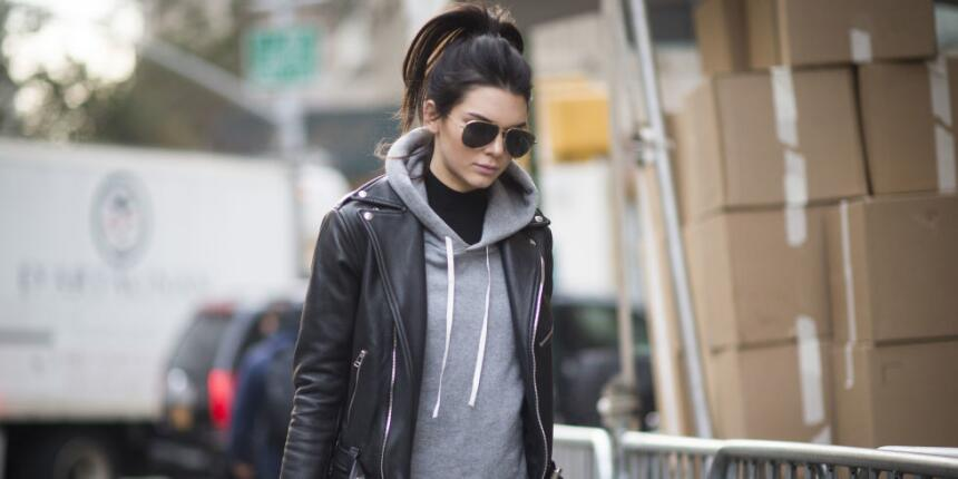 Kendall Jenner antes del desfile de Victoria's Secret
