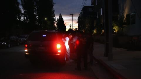 Una detención de ICE en agosto de 2015 en Los Ángeles, Cal...