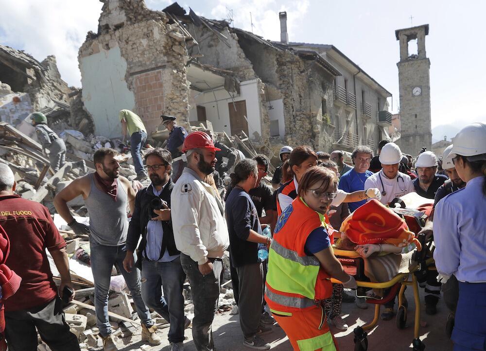 Los heridos de Amatrice han sido trasladados a hospitales de Roma