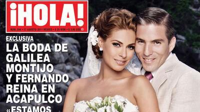 Galilea Montijo y Fernando Reina vendieron la exclusiva de su boda a la...