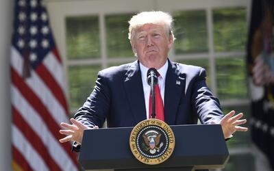 """Trump al anunciar la salida de EEUU del Acuerdo de París: """"Beneficia exc..."""
