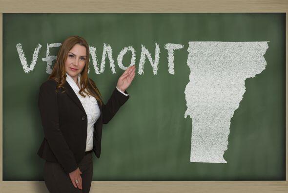 Vermont  - Índice 64.7  - Preescolar: 49.8% edades 3 y 4 inscritos en la...