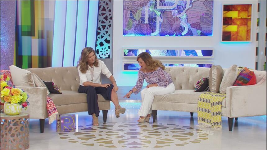 La presentadora le mostró sus heridas de guerra a 'La Rox'