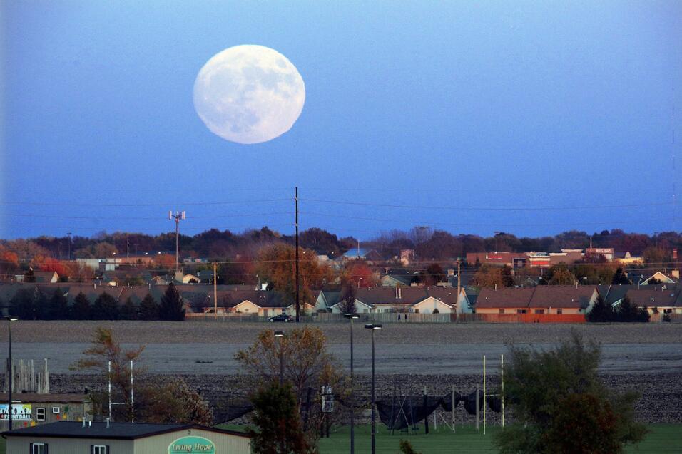 Toma de la superluna en Illinois