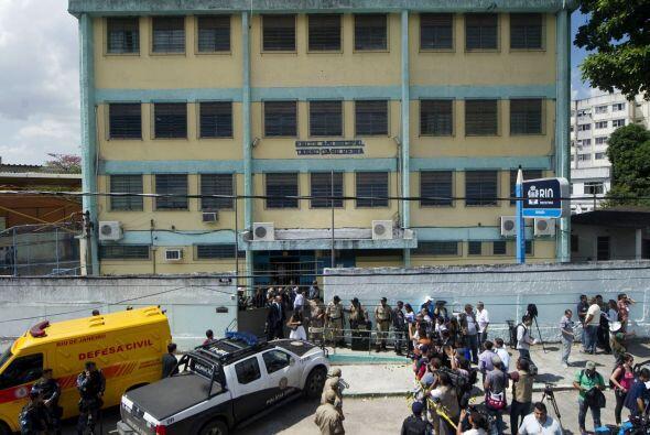 La escuela municipal Tasso da Silveira, localizada en el barrio de Reale...