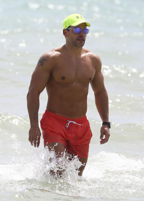 El actor se dio un merecido descanso en las playas de Miami.