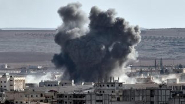 Ataques contra ISIS en Siria e Irak.