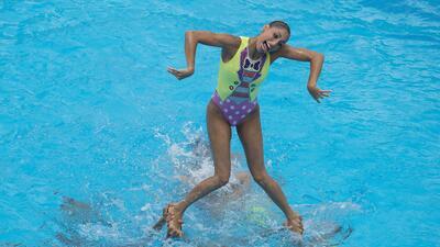 La rutina dorada de México en nado sincronizado femenino libre en Centroamericanos