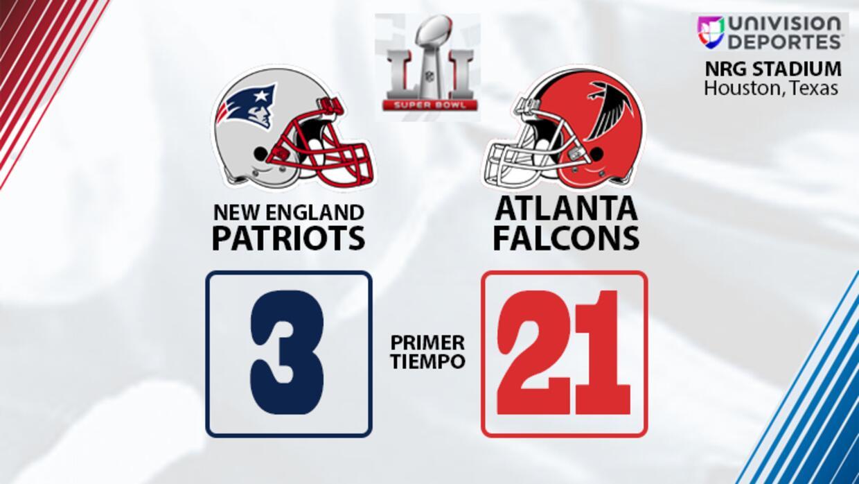 Primer tiempo Super Bowl