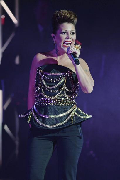 La cantante interpretó sus más grandes éxitos.