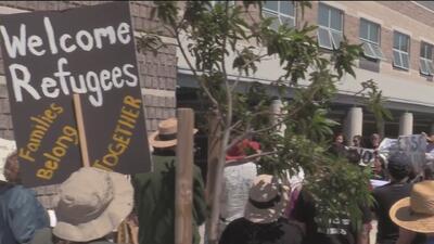 Manifestantes exigen la liberación de migrantes en la cárcel de Richmond