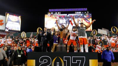 Clemson y Alabama brindaron un partidazo en el National Championship Game de la NCAA