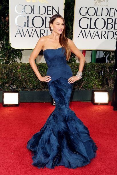 Como toda una sirena lució Sofía Vergara con ese vestido d...