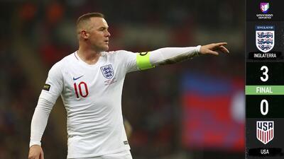 Por todo lo alto: Wayne Rooney jugó su último partido con Inglaterra en goleada sobre EEUU