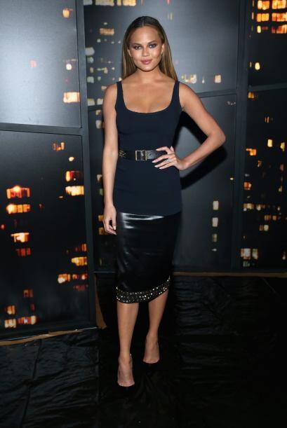 Al desfile de Donna Karan asistieron celebridades de la talla de Chrissy...