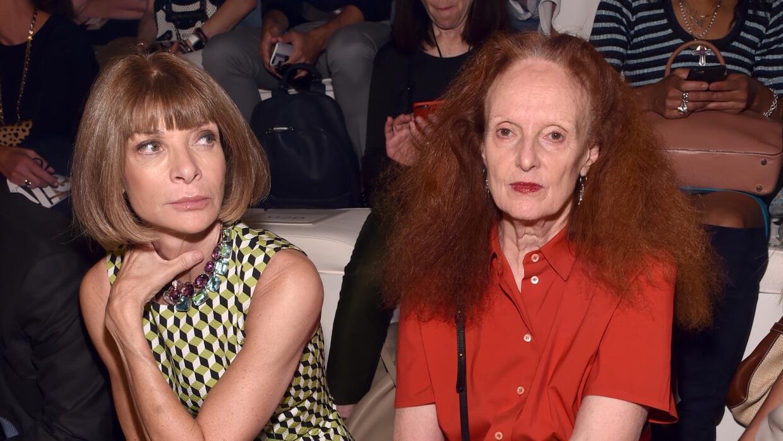 En los desfiles Anna Wintour siempre estaba sentada al lado de Grace.
