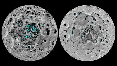 Hielo en nuestro satélite: científicos confirman que hay agua en la superficie de la Luna
