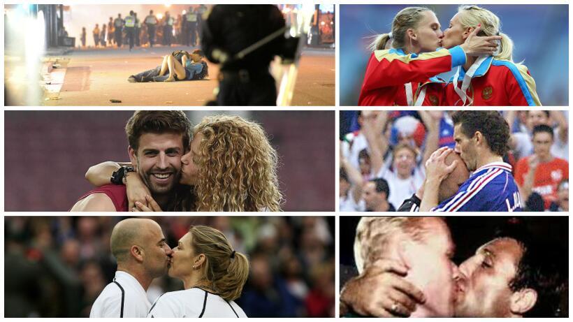 En el día del beso, los besos más recordados del deporte