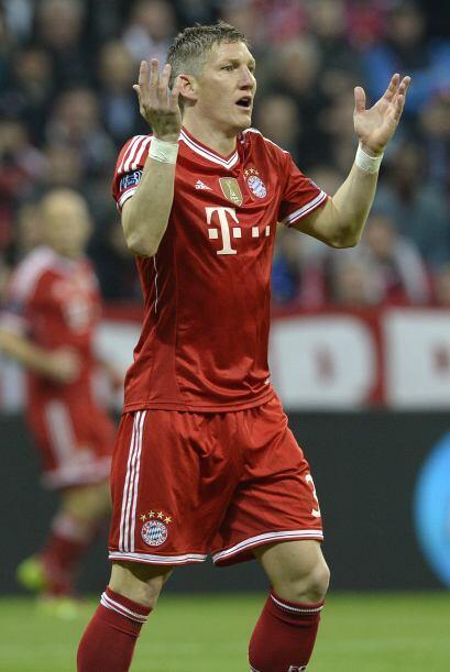 El alemán Bastian Schweinsteiger fue el pilar en la mitad de campo del B...