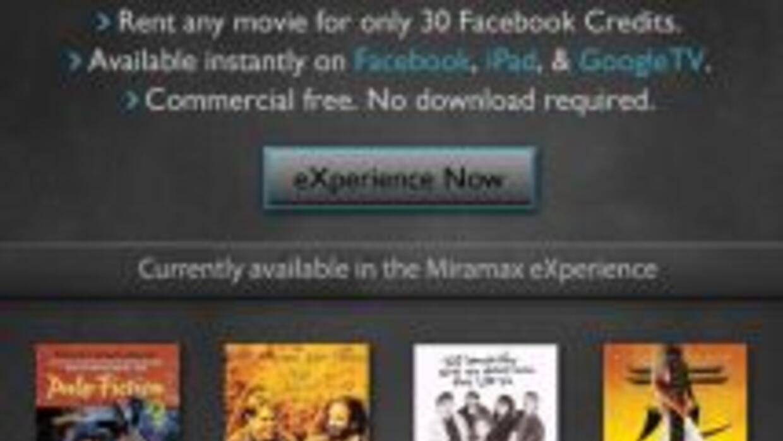 Ahora podrás ver películas en tu página de Facebook.