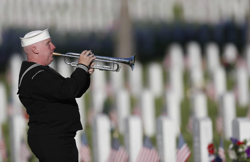 Veterano en Cementerio Nacional Fort Logan en Denver