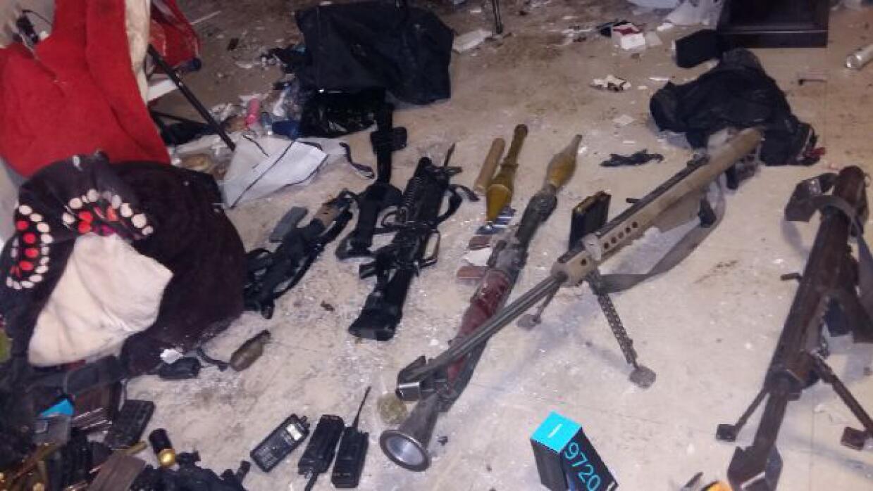 Parte del armamento confiscado